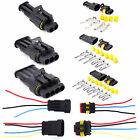 10 Kit 2/3/4 Pin Way Waterproof Electrical Wire Connector Plug Super seal Fr Car