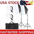 Photograpy Studio Continuous Video Light Softbox Lighting Tripod Stand Kit Z6A5