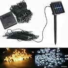 New 100-500 LED Solar Power Operated Fairy String Lights Christmas Xmas Party #Y