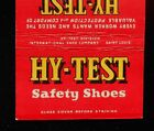 1940s Billboard Matchbook Hy-Test Safety Shoes International Shoe St. Louis MO
