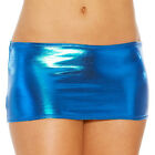 Sexy Womens Lingerie Faux Leather Wet Look Bodycon Metallic Mini Skirt Clubwear