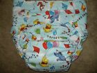 Dependeco All In One cloth adult baby diaper S/M/L/XL  (pooh balloons)