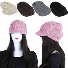 Fashion Womens Lady Crochet Knit Slouchy Baggy Hat Winter Braided Beanie Ski Cap