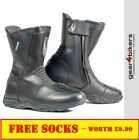 Richa Monza WP Ladies Motorcycle Boot Motorbike Boots Black Touring Commuter