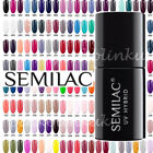 Semilac Soak Off Gel Polish UV Hybrid Nail ALL 180 COLOURS  Manicure Nail Art