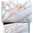 Marble Hard Matte Front Back Case Cover for Macbook Air Pro TouchBar 11 12 13 15
