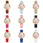 New Variety Womens Round Candy Colors Flower Printed Dial Quartz Wristwatch Lots