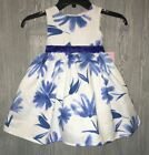 NANNETTE White Blue Floral Sleeveless Fit & Flare Dress NEW Toddler Girls Sz 3T