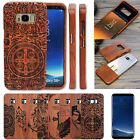 100% Real Natural Wooden Wood Bamboo Phone Case Cover for Samsung GALAXY S8 Plus
