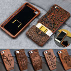 DIY 100% Real Natural Wooden Wood Bamboo Phone Case Cover for HTC One M10 M9 M8