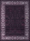 Purple Traditional-Persian/Oriental Floral Area Rug Vines Petals Buds Carpet