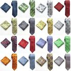 2017New fashion men jacquard tie and pocket square suit wedding tie handkerchief