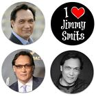 "Set of 4 Jimmy Smits 2.25"" Pinback Buttons or Magnets"