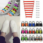 Easy No Tie Elastic Shoe Lace Silicone Trainers Shoes Adult Kids Sport Shoelaces
