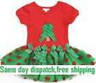 Children Girls Kids Red Chirstmas Summer Party Outfit Tutu Dress Clothes Cotton