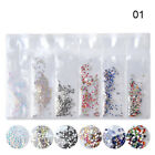 AB Color Nail Rhinestones Glitter Crystal Flatback 3D Nail Art Decoration Tips