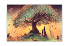 Wishing Tree Wall Decoration Poster Art Print Quality Gloss Wall Decoration