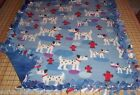 Paw Prints Fleece Blanket Retriver Bulldog Paw Scottie German Sherpard 30