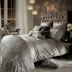 Kylie Minogue Branded Bedding ESTA SILVER - Grey Duvet Cover, Cushions or Throw