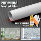 *Frosted Clear Carbon Fiber Office Window Privacy Security Film Sticker Decal