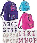 PERSONALISED INITIAL WITH STARS DESIGN RUCKSACK,BACKPACK for SCHOOL any letter.