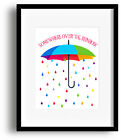 Somewhere Over the Rainbow from the Wizard of Oz - Song Lyric Music Quote Print