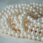 "16"" Strand Natural Freshwater Pearl Beads Round White 3 - 6mm Grade A+"