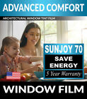 Внешний вид - SunJoy 70 Virtually Clear Home Commercial Window Tint Film Solar UV Heat Control