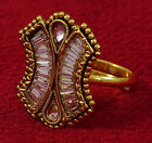 Goldtone Traditional Wedding Ring Indian Finger Band Party Jewelry-KR40-PAR