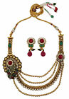 Ethnic Indian Traditional Necklace Set New Bollywood Party Jewelry-BNS166