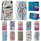 3D Leather Wallet Magnetic Smart Flip Case Cover for Samsung Galaxy A320 A520