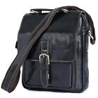 Unisex Genuine Cow Leather Small Sling Travel Bags Shoulder Messenger Bags Purse