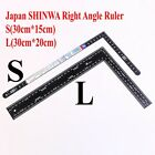 Japan Shinwa Right Angle Ruler Stainless Steel Ruler Leather Craft DIY Tool