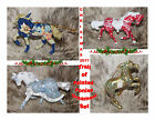 """TRAIL OF PAINTED PONIES Set of 4 Holiday Ornaments Christmas 2017~2.5""""-3"""" Tall~"""