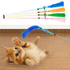 Funny Cat/Kitten Pet Teaser Feather Wire Chaser Toy Wand Beads Play Interactive