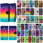 For ZTE Zmax Pro Carry Z981 Design Slim Stylish Canvas Wallet Case Cover Phone