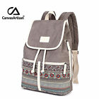 Women Canvas Casual College Bookbag Retro Stylish Travel Laptop Backpacks Bag