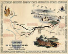 Historic WWII Military War Map TO THE RHINE 79th Infantry Division Poster Print