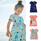 Внешний вид - Girls Clothes Summer Dress with Floral Printed Jersey Tops Kid Dresses 15 Colors