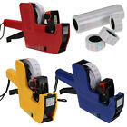 3 Color MX-5500 8 Digits Price Tag Gun + 5000 White w/ Red Lines Labels +1 Ink