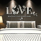 Stylish Removable 3D Leaf LOVE Wall Sticker Art Vinyl Decals Bedroom Decor