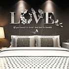 Внешний вид - Stylish Removable 3D Leaf LOVE Wall Sticker Art Vinyl Decals Bedroom Decor
