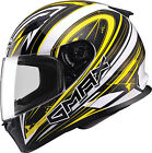 Gmax FF49 Warp Full Face Street Helmet White/Yellow
