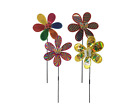 2 x Holographic Bugs Ornamental Decorative Garden Windmill 28cm Assorted Colours