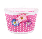 Bicycle Front Basket Flowery Bike Cycle Shopping Holder Children Kids Girls