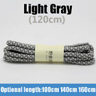 Round Reflective Hiking Shoe Laces 3M Sneakers Shoelaces Strings Athletic Sports