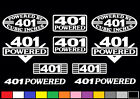 10 DECAL SET 401 CI V8 POWERED ENGINE STICKERS EMBLEMS NAILHEAD 6.6 VINYL DECALS