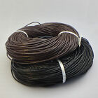 Genuine Black Dark Brown Leather Cord Thread For Bracelet Necklace 1M 10M 100M