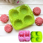 Flowers Pattern Silicone Chocolate Candy Muffin Cake Cookies Baking Mould Tray