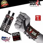 BUKA BODY BUILDING WEIGHT LIFTING GYM TRAINING WRIST SUPPORT SKULL BAR STRAP